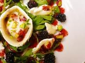 Goat's Cheese Blackberry Salad with Vinaigrette