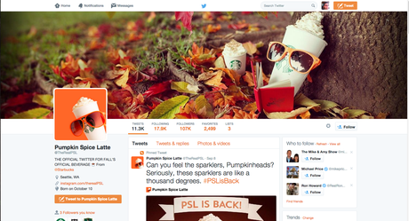 Pumpkin Spice Latte Twitter Feed, for crying out loud