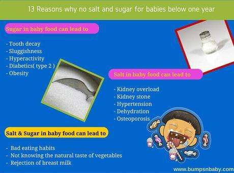 13 Reasons Why Sugar and Salt is a Big NO for Babies Below 1 Year