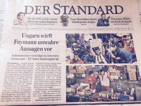 For European newspaper front pages: refugees dominate
