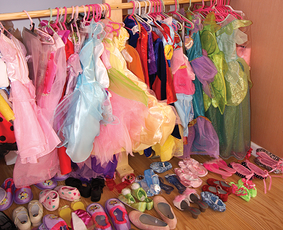 closet of princess clothes