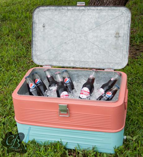 Refinished Vintage Cooler Painted with Krylon