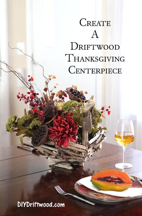 Creating a driftwood thanksgiving centerpiece paper