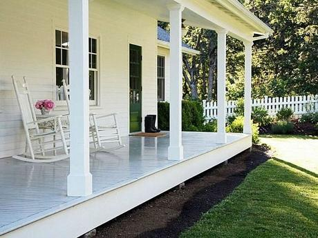 All you need are 2 traditional rocking chairs and a place to set your cold ice tea.....or other beverage....and rock the afternoon away.:
