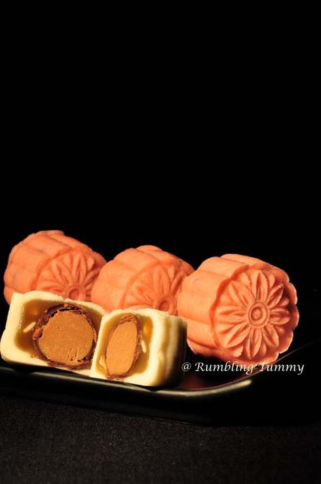 Sea salt caramel Snowskin Mooncake