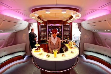 First Class flight in Emirates
