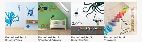 FREE printable wall decals from Room To Grow!