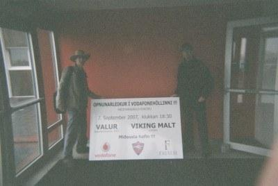 Touring Valur's stadiums with Gavin