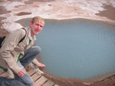 One of the hot pools near the Geysir in Iceland