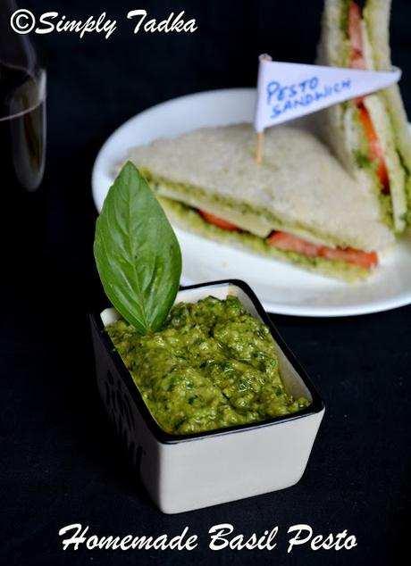 Basil and Coriander Pesto Sauce- Homemade