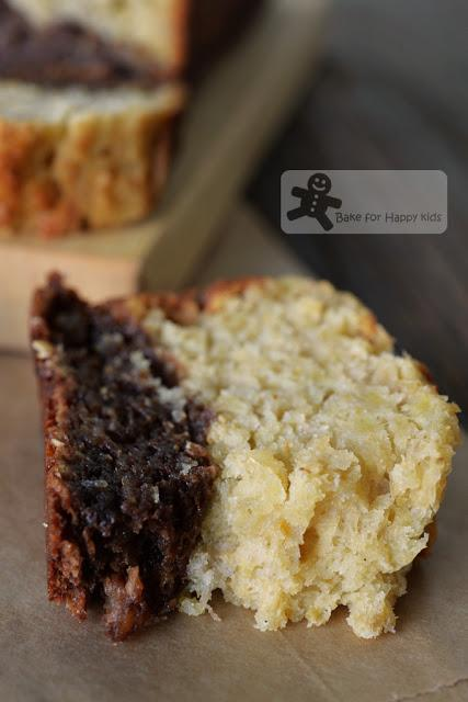 Very Easy and Moist Black Bottom Milo Wholemeal Banana Bread