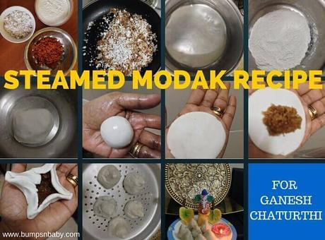 Steamed Modak Recipe or Ukadiche Modak for Babies and Kids
