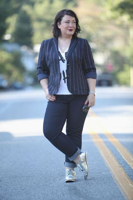 What I Wore: Stripes and Shine