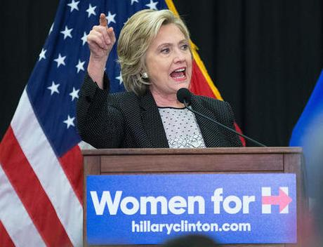 Hillary Clinton Speaks At Iowa College About Women's Issues