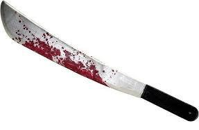 bloody machete