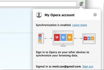 Opera can now Sync your passwords across computers