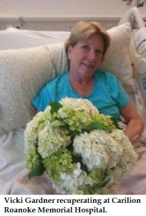 Vicki Gardner in hospital