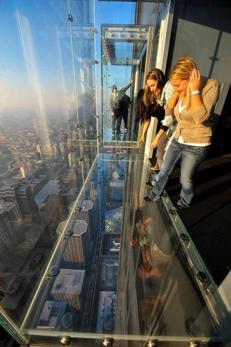 The Ledge at the Willis Tower Skydeck, Chicago (Photo: Courtesy of Skydeck Chicago/Facebook) http://yhoo.it/1y1BzVv: