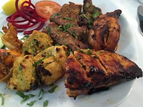 Order the mixed grill at Phewa Nepalese restaurant in East Molesey