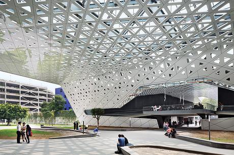 Cineteca Nacional in Mexico City by Rojkind Arquitectos with aluminum canopy