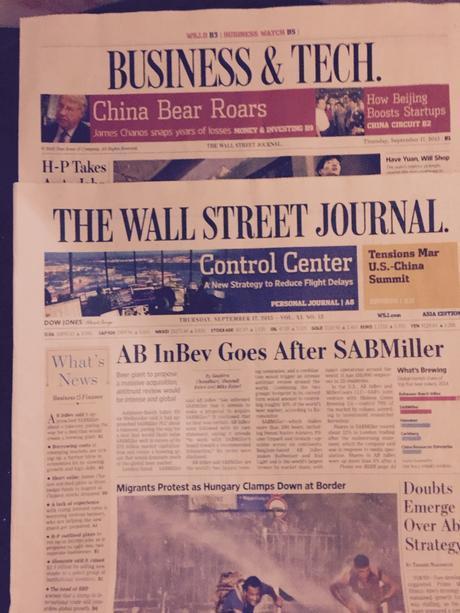 Wall Street Journal: from tabloid to broadsheet