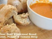 Sunflower Seed Wholemeal Bread Carrot Pepper Tomato Soup