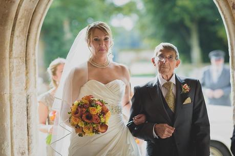 Bride's arrival at Athelhampton House