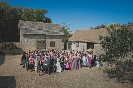 Wedding party group shot