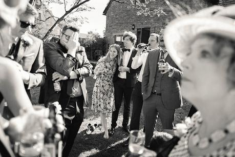 Drinks reception at Kingston Country Courtyard Wedding