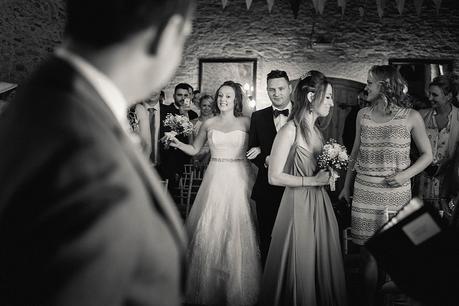 Bridal entrance at Kingston Country Courtyard Wedding