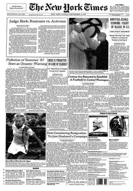 The New York Times: that Sunday edition was a fat baby