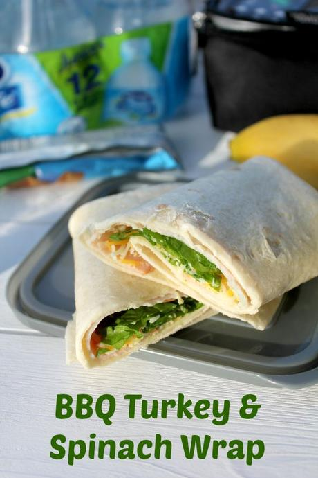 Kid Friendly Lunch: BBQ Turkey and Spinach Wrap