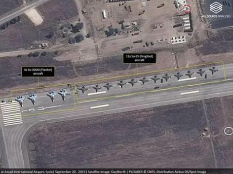 Russian air base near Latakia, Syria