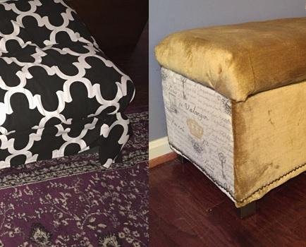 Frugal Furniture Friday - Bench and Ottoman