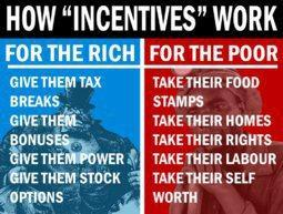Remember that conservatives area all for incentives, which is why we all need to be conservatives. And never mind that the rich and the poor are equals. So say conservatives. Or do they?