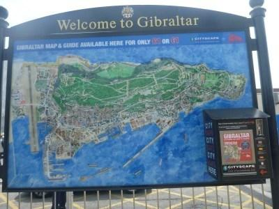 Welcome to Gibraltar. Yes, the entire country fits on that map.