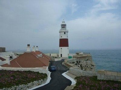 Europa Point in Gibraltar, and behind it Africa
