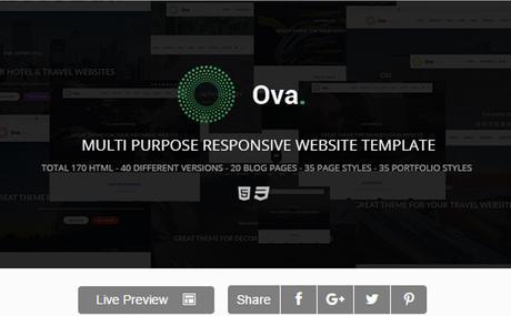 Ova - Multipurpose HTML5 Responsive Site Template
