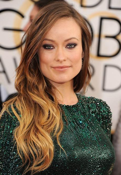 Celebrity-Olivia-Wilde-Long-Ombre-Wavy-Hairstyle-for-Women