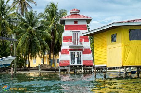 Buildings on Isla Carenero, just take a water taxi to visit.