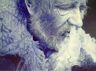 Pepe Lozano - Bic drawings - photorealistic biro art