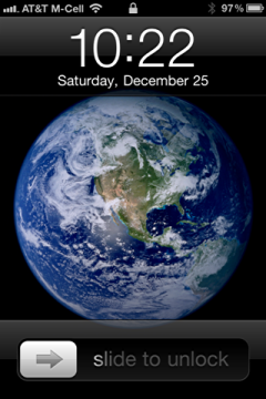Blue Marble on iPhone