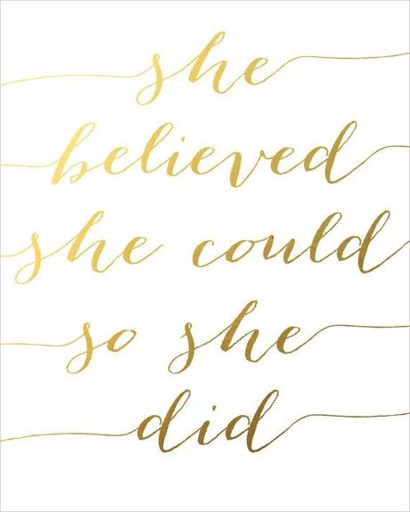 She Believed She Could So She Did Printable INSTANT by CraftMei