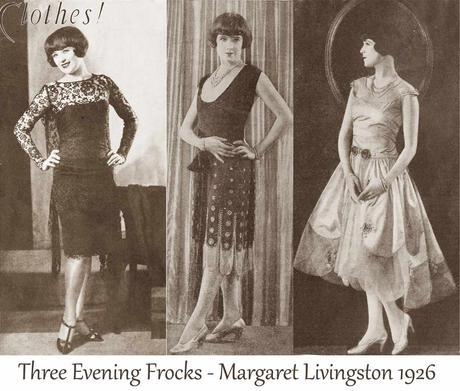 Three-Evening-Frocks----Margaret-Livingston-1926