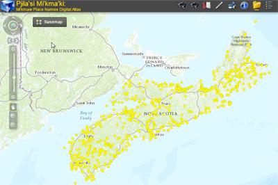 Interactive Atlas of Mi'kmaw Place Names in Nova Scotia