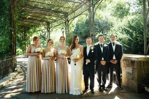 A Wedding in the Wisteria Pergola in the Conservatory Gardens