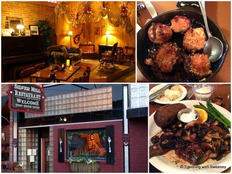 Silver Mill Restaurant in Philipsburg and two favorite dishes: fried meatballs and a tenderloin steak and potatoes