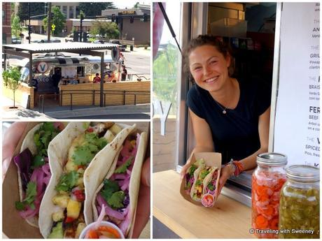 Service with a smile adds to the enjoyment of these delicious fresh tacos (