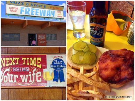Muzz and Stan's Freeway Tavern and their specialty, the