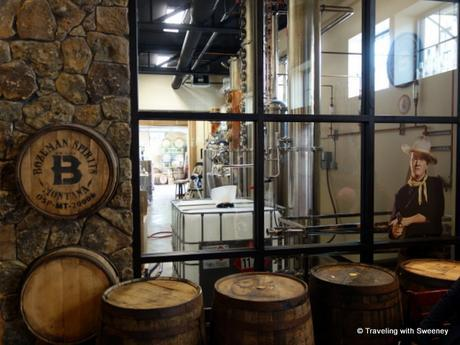 A peek inside the distillery of Bozeman Spirits with a cameo appearance by